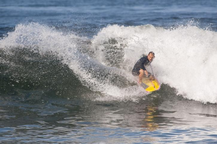 Bodyboard surf vague