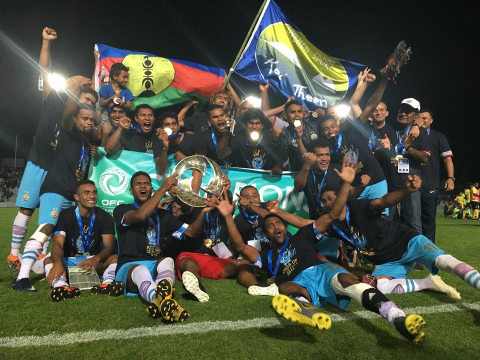 Le Hienghène Sport, devant 7000 spectateurs à Nouméa