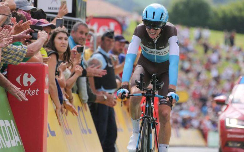Bardet lors du contre-la-montre 2018 sur le Tour de France, son principal défaut