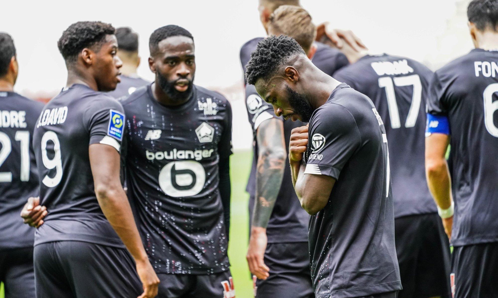 Jonathan Bamba célèbre son but face à Reims